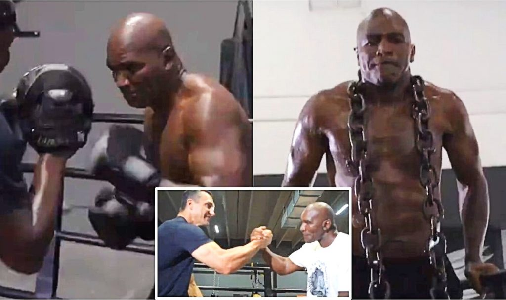 Holyfield is 'Preparing for Battle' With Klitschko: See The Fierce Preparations of The Legendary Champion!