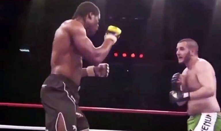Ngannou Released a Video of His First Knockout Victory, It Was Brutal as Expected (Video)