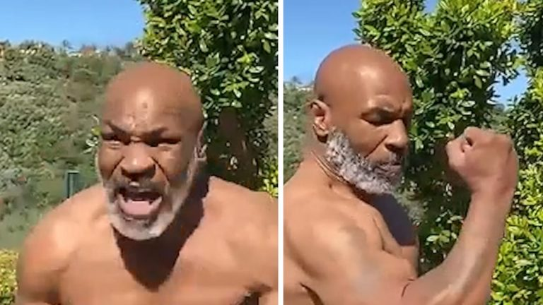 Mike Tyson Took Off His Shirt And Shocked The Fans Again With His Looks And Speed