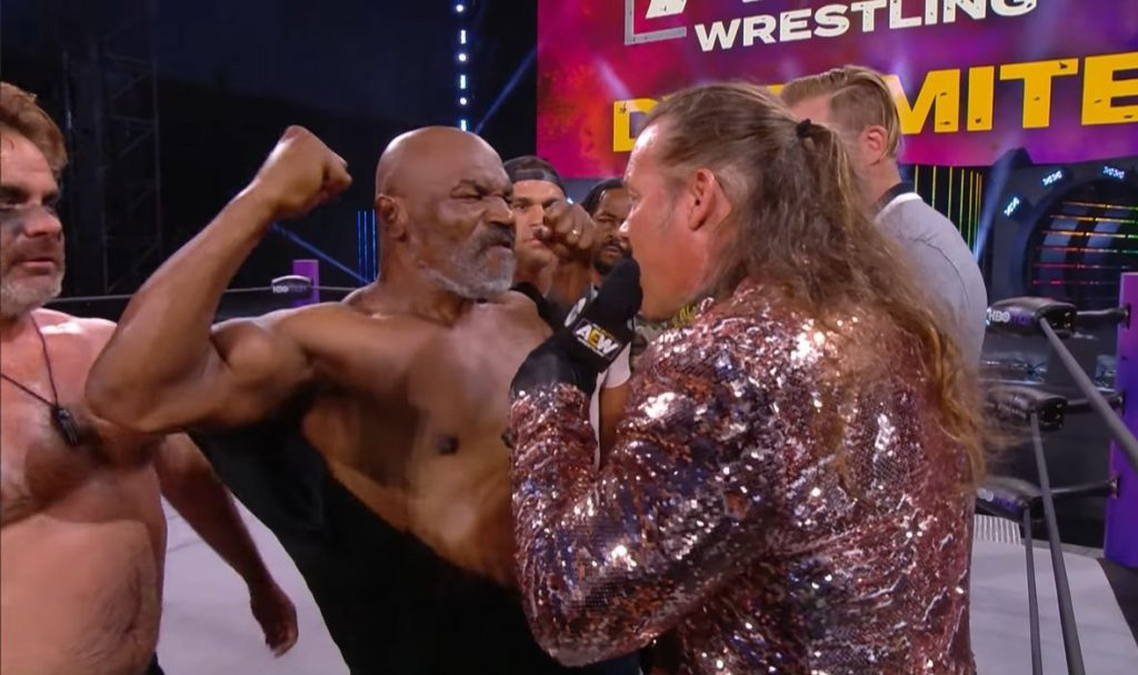 Tyson, In The Company of Former UFC Champions, Ran Into a WWE Show and Created Chaos In The Ring