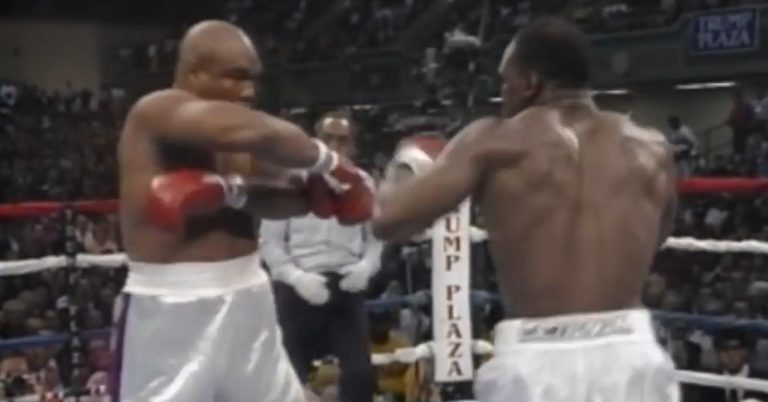 Take a look at the historical fight between Holyfield and Foreman!