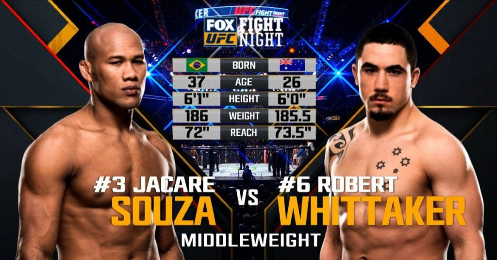(FREE FIGHT) To Better Prepare for the Next UFC Event, Here Is a Full Fight of Souza and Whittaker!