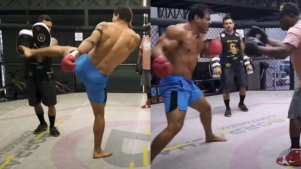 (VIDEO) Monstrous Paulo Costa: Watch 23 Kicks in 12 Seconds and Boxing Destroying of the Focuser