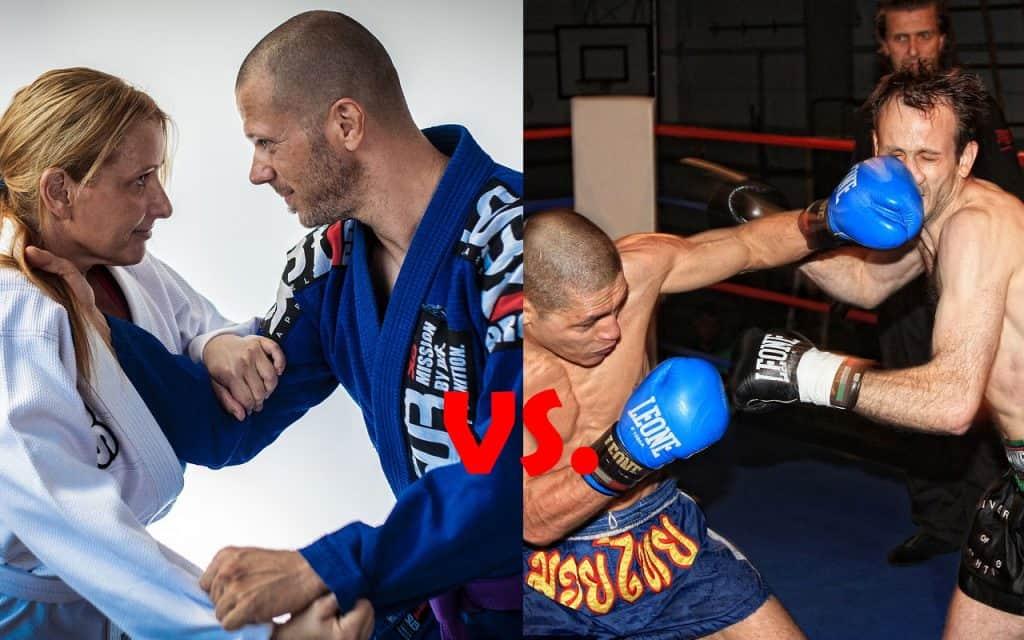 BJJ (Jiu-Jitsu) vs Kickboxing Differences