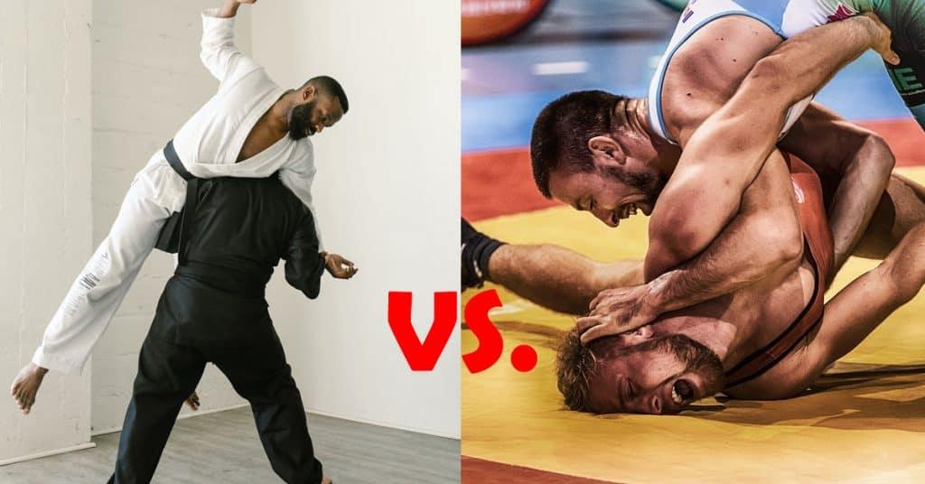 judo vs wrestling