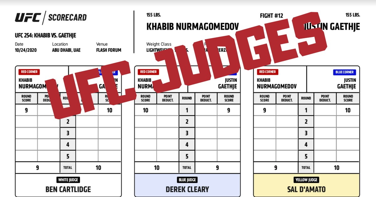 ufc judges